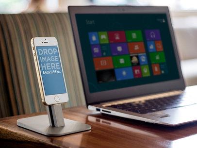 iPhone 5s Gold Portrait On Deck
