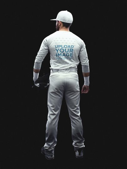 Baseball Uniform Designer - Full Body Back of a Man a15991