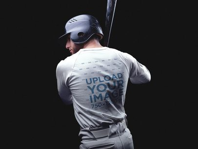 Baseball Uniform Designer - Back of a Man a15986