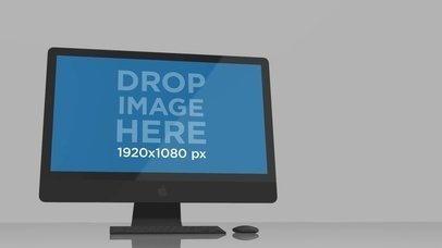 Video Mockup of an iMac Inside a White Room a16235