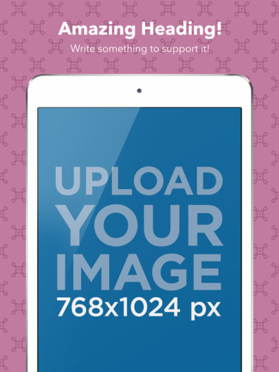 App Store Screenshot Maker Frontal Cropped iPad in Portrait Position a16033