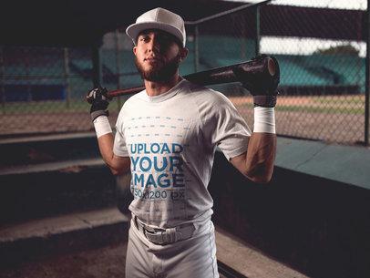 Baseball Uniform Designer - Batter Inside the Dugout a16344
