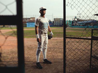 Baseball Uniform Designer - Man Going into the Field Entrance a16339
