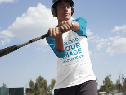Baseball Uniform Designer - Boy About to Hit the Ball a16367
