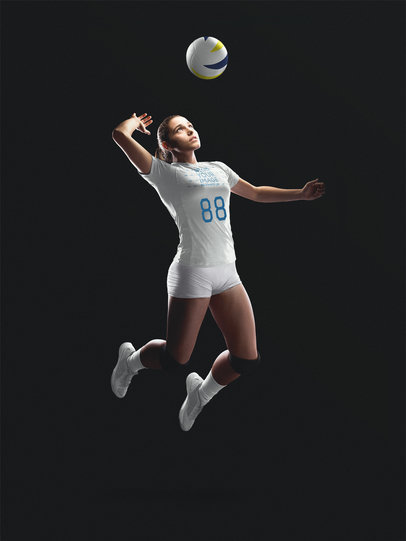 Volleyball Jersey Maker - Jumping Girl a16469