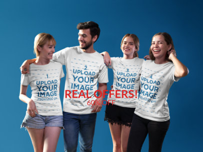 Facebook Ad - Four Friends Wearing T-Shirts Indoors a16273