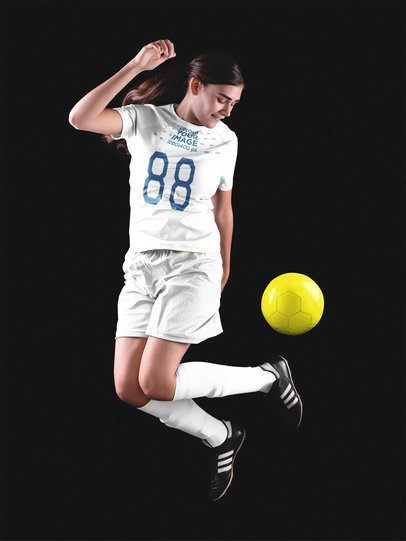 Custom Soccer Jerseys - Teen Girl Playing with the Ball Inside a Studio a16524