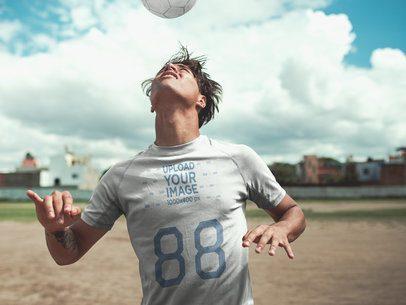 Custom Soccer Jerseys - Man Doing a Head Trick a16558