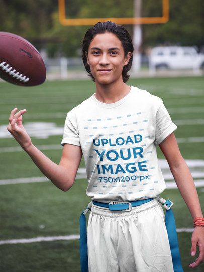 Custom Football Jerseys - Teen Boy Taking a Break at the Field a16577