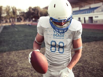 Custom Football Jerseys - Man Walking Into the Field a15936