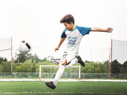 Custom Soccer Jerseys - Boy Shooting a Penalty a16608
