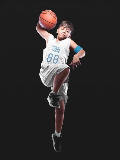 Basketball Jersey Maker - Boy Doing Tricks at the Studio a16636