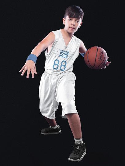 Basketball Jersey Maker - Kid Doing Tricks a16635