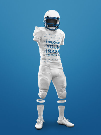Custom Football Jerseys - Invisible Man Standing Against a Solid Background a17496