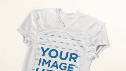 Custom Football Jerseys - Video of a Jersey Lying on a White Surface a16872