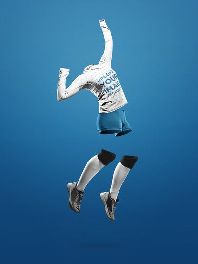Custom Volleyball Jerseys - Invisible Girl Jumping a17498