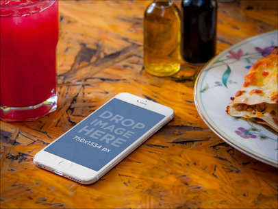 iPhone 6 On Restaurant Table