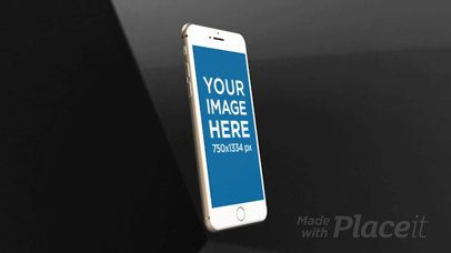White iPhone Video Mockup Rotating Inside a Room a15638