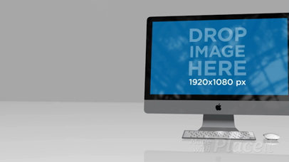 iMac Video Standing on a Flat Reflective Surface a15963b
