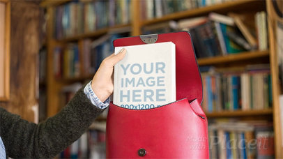 Girl Putting a Book Inside Her Red Backpack in Stop Motion a13748