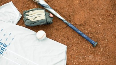 Baseball Uniform Builder - Jersey Lying on a Dirt Field a16933