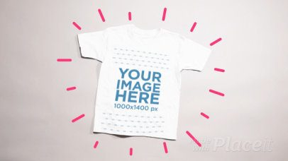 Bouncing T-Shirt Stop Motion Mockup Over a White Background a13221