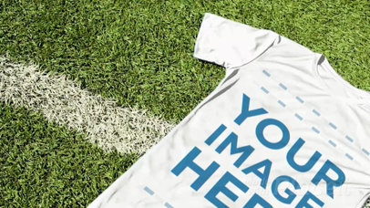 Custom Soccer Jerseys - Jersey Lying on the Field Grass a16925