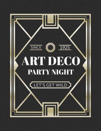 Art Deco T-Shirt Design Maker a10