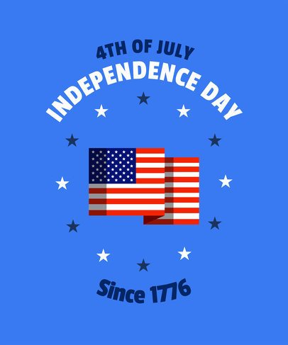 4th of July Shirt Design Template
