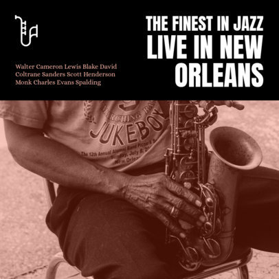 Placeit - Jazz Album Cover Maker with a Street Musician's