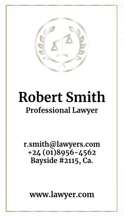Vertical Lawyer Business Card Maker a69