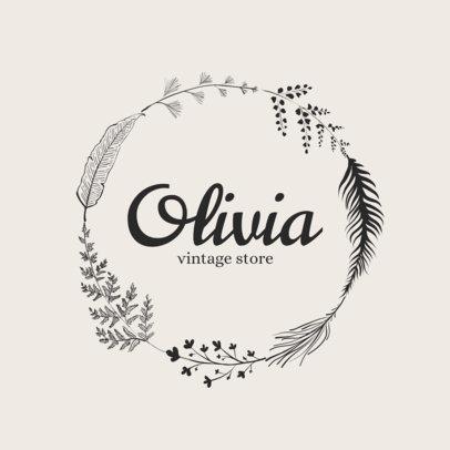 Clothing Brand Logo Maker - Circular Design a1084
