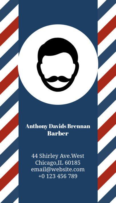 Vertical Barber Business Card Maker a110
