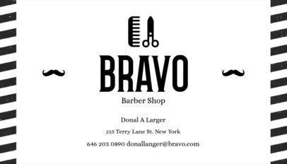 Barber Business Card Maker a103