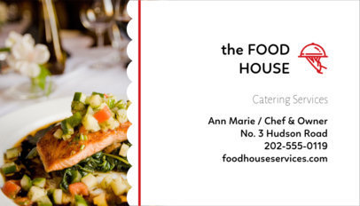 Catering Business Card Template a107