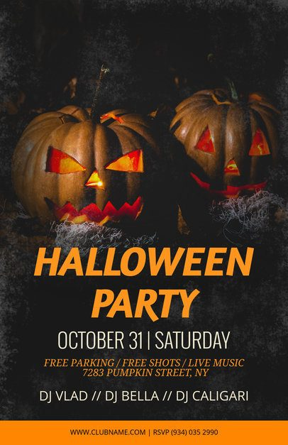 Halloween Party Flyer Maker a123