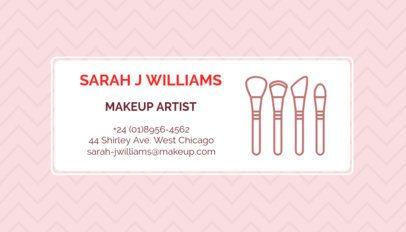 Makeup Artist Business Card Maker a112