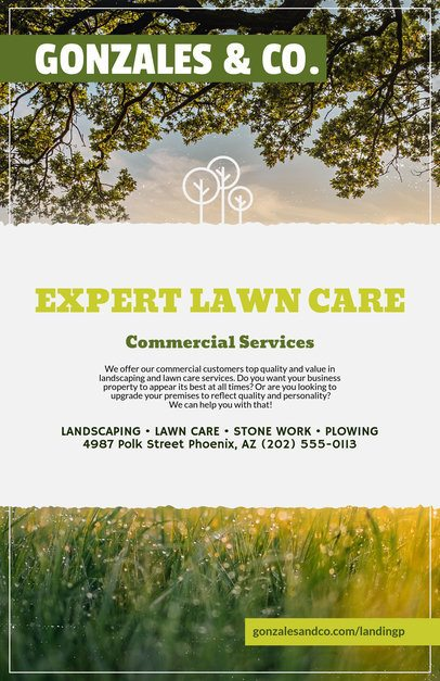 Online Flyer Maker for Landscaping Flyers a125