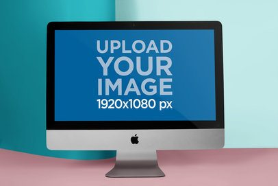 Versatile Mockup Featuring an iMac a20678