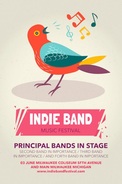 Online Poster Maker for Indie Music Festivals a60