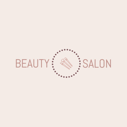 Beauty Salon Logo Maker - Center Graphic a1150