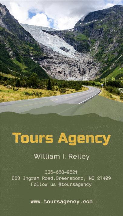 Vertical Travel Agent Business Card a160