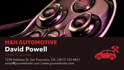 Auto Shop Business Card Maker a158