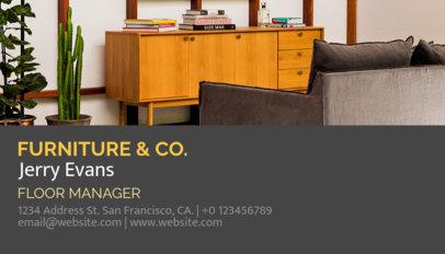 Furniture Store Business Card Template a176