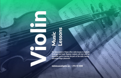 Online Flyer Maker to Design a Music Lessons Flyer a169