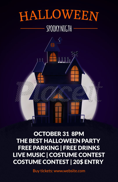 flyer template to design halloween party flyers