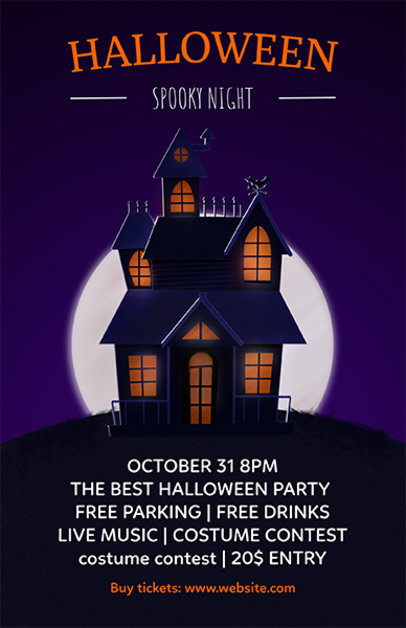 Online Flyer Maker to Design Halloween Party Flyers a121