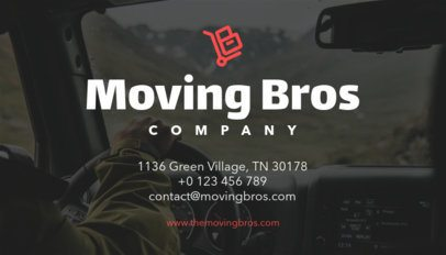 Moving Company Business Card Maker a202