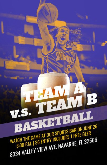 Online Flyer Maker to Design a Sports Bar Flyer a181