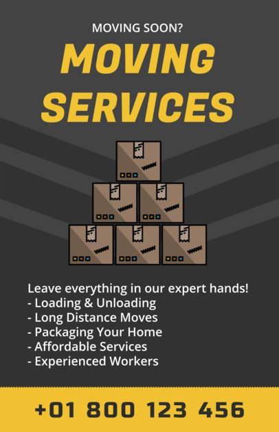 Flyer Maker for Moving Companies a204